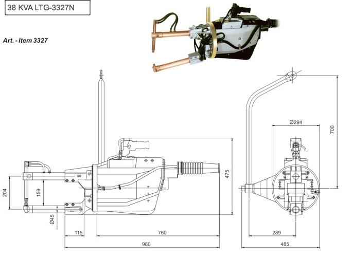 spot welding hose cooling diagram